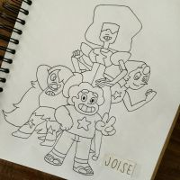 steven and the crystal gems by joisedesu
