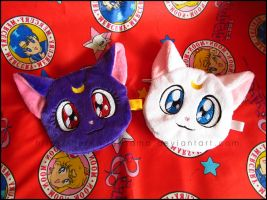 Zipper Pouch: Luna and Artemis by Serenity-Sama