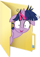 Custom Crazy Twilight folder icon by Blues27Xx