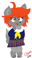 First Furry oc: Wolf girl Ginny(gif version) by cottoncloudyfilly