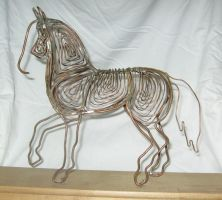 Copper Wire Horse by AtticusKZ