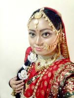 Kunti or Draupadi's Cosplay from Mahabharat 2013 by seawaterwitch
