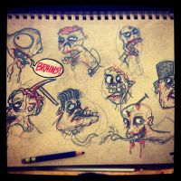Zombie sketches! by Yeti-Labs