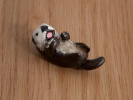 Sea otter totem, polymer clay by lifedancecreations
