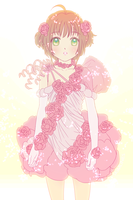 Roses Cake and Ribbon Dress Sakura by skimlines