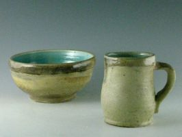Wood-fired bowl and cup by Spirit-of-song