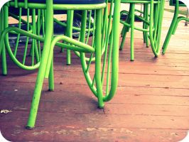 Green Chairs by Rainbow826