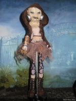 monster high custom repaint daughter of scarecrow by Rach-Hells-Dollhaus