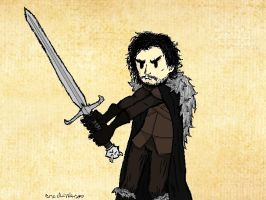 Jon Snow Sketch by TheLittlestGiant