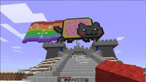 Minecraft Nyan Cat by higurush