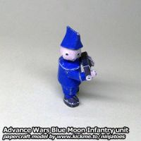 Papercraft Advance Wars Blue Moon Infantry by ninjatoespapercraft