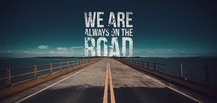 We Are Always On The Road - Design Wallpaper by Rush4Art