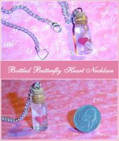 Bottled Butterfly Heart Charm by YellerCrakka