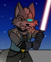 Wolf Goes Sith on Your Butt by Gathion