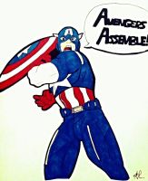 The Avengers- Captain America- Avengers Assemble! by Lady-of-Ratatosk