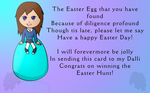 Prize:  Dallimater's Easter card, Persephone by AmyNChan
