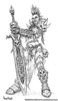 Female Troll Death Knight by Arsenal21