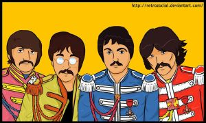 AT : The beatles Sgt Pepper by RetroZocial
