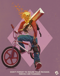 Ghost Rider as a bike courier by DavidJacobDuke