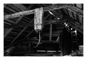 Hanging trousers in the attic by wchild