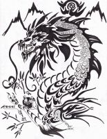 Thailand Dragon Tribal by Rurubunny