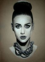 Katy Perry portrait drawing by Snatas-Paper