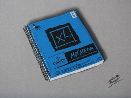 Drawing a sketchbook by marcellobarenghi