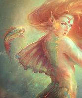 Mermaid detail by MartaNael