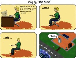 "Playing ""The Sims"" by Quosui"