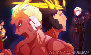 Attack on Gundam by Tubigpo32