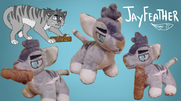 Jayfeather Plushie by Warrior-Junkie