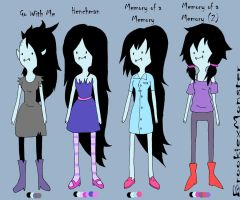 Marcline Outfits 2 by BrookiexMonster