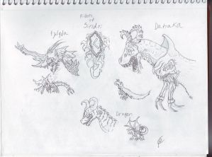 Riders of Sindri Sketches