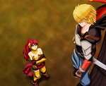Pyrrha and Jaune in the Forest by MarkStantonDesign