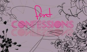 Confessions font by iHeartLovato