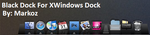 Black Dock For XWindows Dock by CanasX
