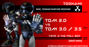 Toonami Warfare: T.O.M. 2 vs T.O.M. 3/3.5 by JPReckless2444