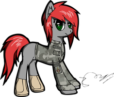 A Mare in Uniform [Redux] by blazeLimit