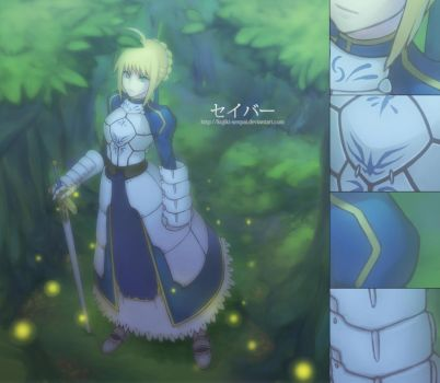 Fate Zero - Saber - by Marfrey