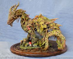 Ancient Forest Dragon- Sculpture by Blackthorn-Studios