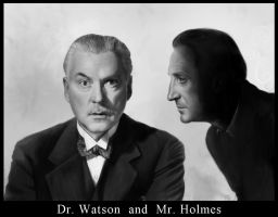 Dr. Watson and Mr. Holmes by Izabella