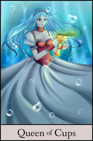 GTRO Tarot: Queen of Cups by Huuxera