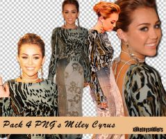 Pack 4 PNG's Miley Cyrus by xliketoysoldiers