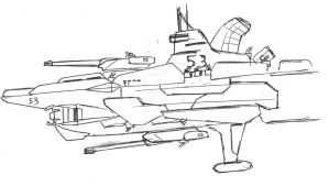 Space masters: Allies ship type J2 by Jepray