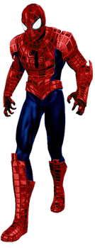 SpiderArmor red and blue suit render 2 by spiderchief
