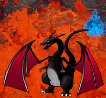 The Magnificent Monster : Shiny Charizard by The-End-Inc