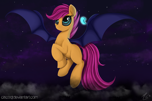 Scootaloo The Batpony by CiscoQL