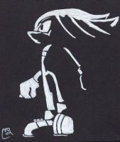 Knuckles Silhouette by RobinLee