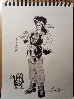 Yamcha and Puar by LadyAlvarez