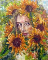 woman in sunflowers by ENERGIA1